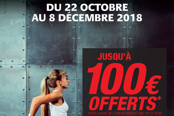 PROMOTION BRIDGESTONE / 22 OCTOBRE - 8 DECEMBRE